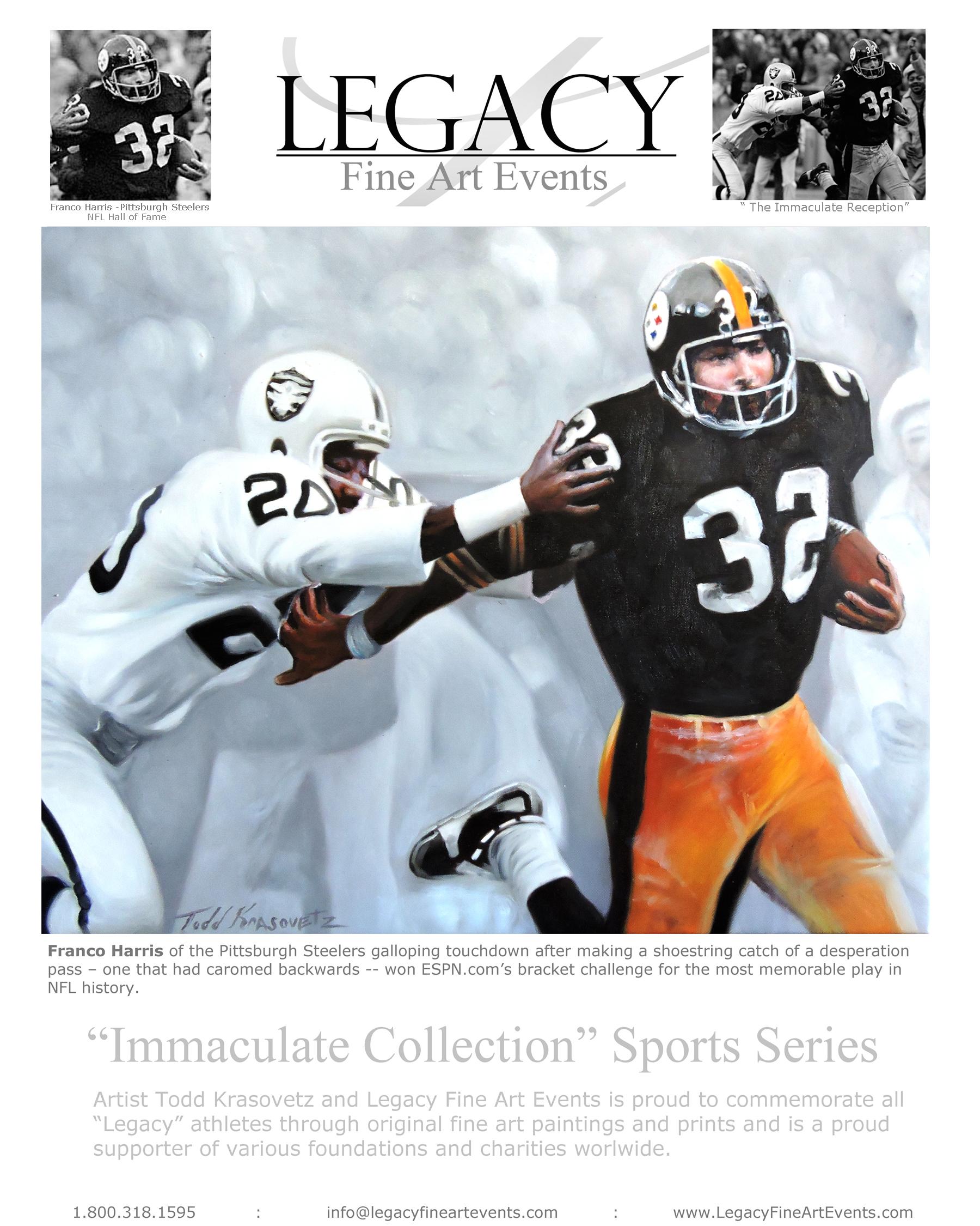 NFL Hall of Fame Running Back Franco Harris