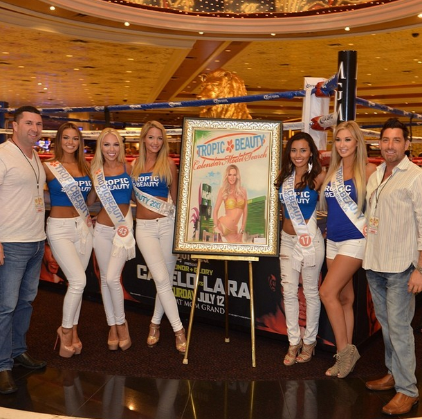 Tropic Beauty World Finals at the MGM Grand Oil Painting of 2013 Contest Winner