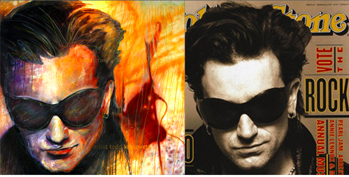 Todd Krasovetz Bono Original Painting
