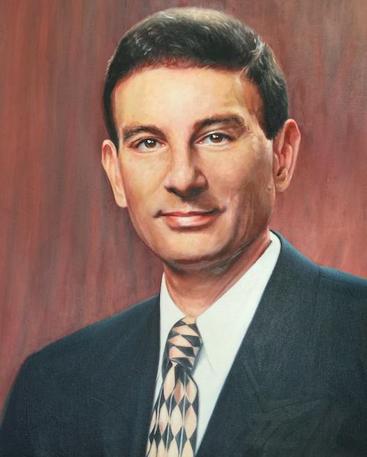 New york Oil Portrait NYIT President by Todd Krasovetz